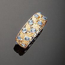 Bracciale in oro tre colori 18 kt, Mario Buccellati