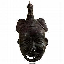 Benin Bronze Helmet Mask