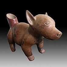 Pre-columbian Colima Dog Vessel