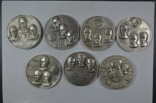 A collection of Apollo Space Program .999 Fine Silver Medallic Art Co. Medals