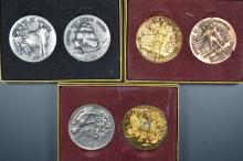 A sextet of Longines and Wittnauer medals