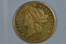 $20.00 Gold 1884-CC Abt. Unc. or thereabouts