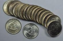 A Mint State Roll of 1952 Booker T Washington/George Washington Carver Commemorative Half Dollars