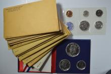 A run of silver U.S. Proof Sets plus a Special Mint Set