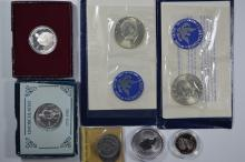 An assortment of mostly U.S. Mint products