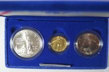 A U.S. Mint 1986 Three-piece Statue of Liberty BU Set