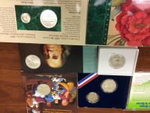 A quintet of Modern U.S. Mint Commemorative Coins and Sets.