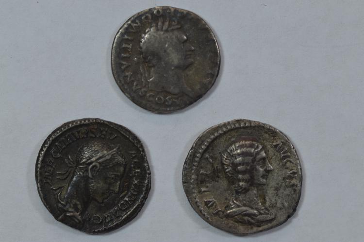 A trio of Imperial Roman Silver Denarii