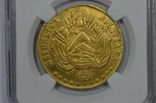Bolivia Gold 1868PTS FE Onza. NGC XF Details
