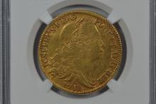 Brazil 1751-R Gold 6400 Reis. NGC XF45, Wings Silver Sticker.