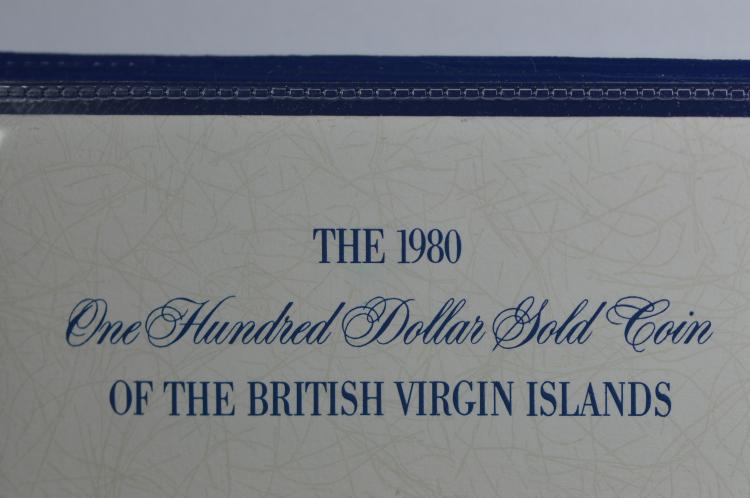 British Virgin Islands 1980 Gold $100 (.2054 oz AGW). Gem Br. Proof