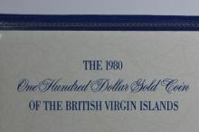 British Virgin Islands 1980 Gold $100 (.2054 oz AGW). Gem Br. Proof
