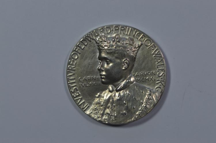 1911 Great Britain Investiture of Edward VIII as Prince of Wales Silver Medal