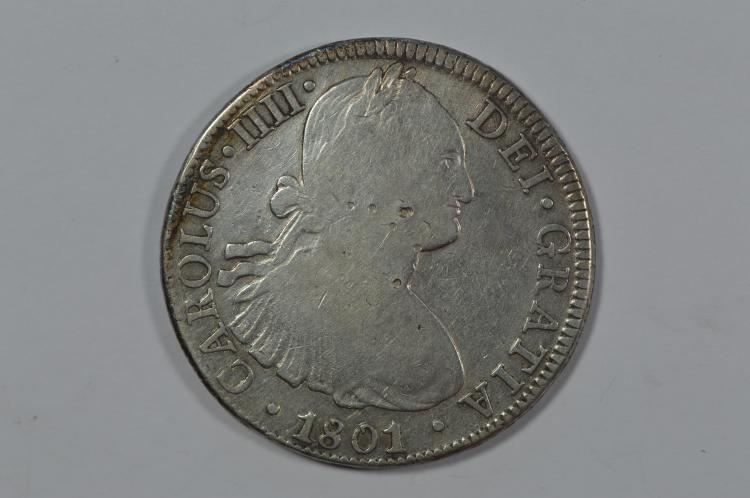 Mexico 1801-Mo FT Silver 8 Reales