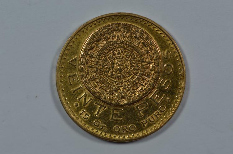 Mexico 1947 Gold 20 Pesos (.4822 oz AGW)