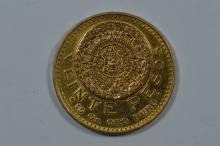 Mexico 1947 Gold 20 Pesos (.4822 oz AGW)