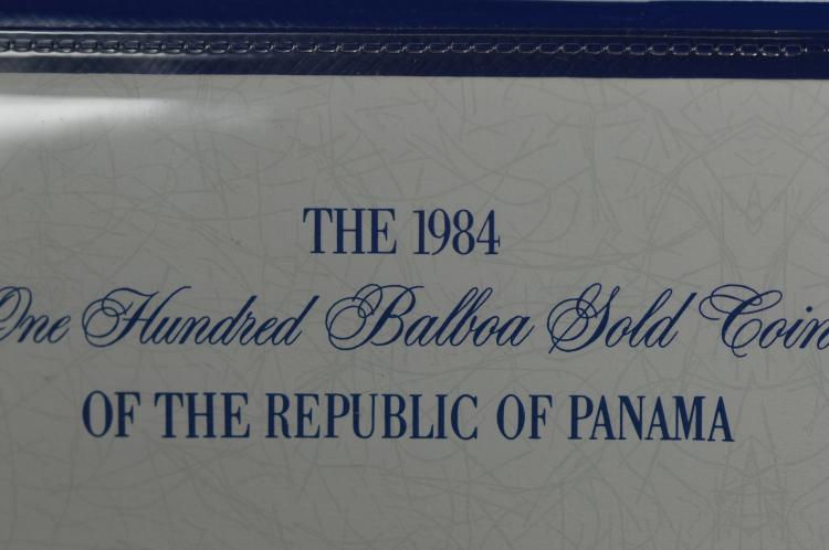 Panama 1984 Gold 100 Balboa (.1146 oz AGW). Gem Br. Proof
