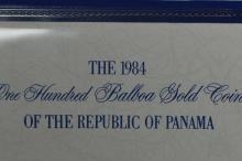 Panama 1984 Gold 100 Balboa (.1146 oz AGW). Gem Br. Proof