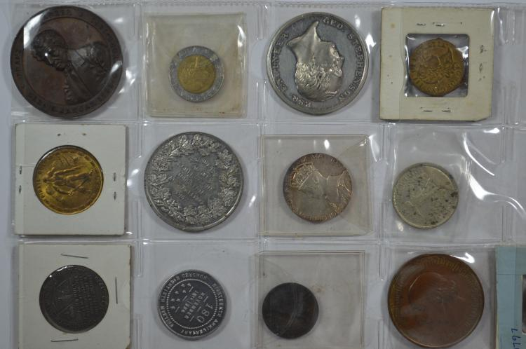 accumulation of worldwide medals, tokens, counters, and the like