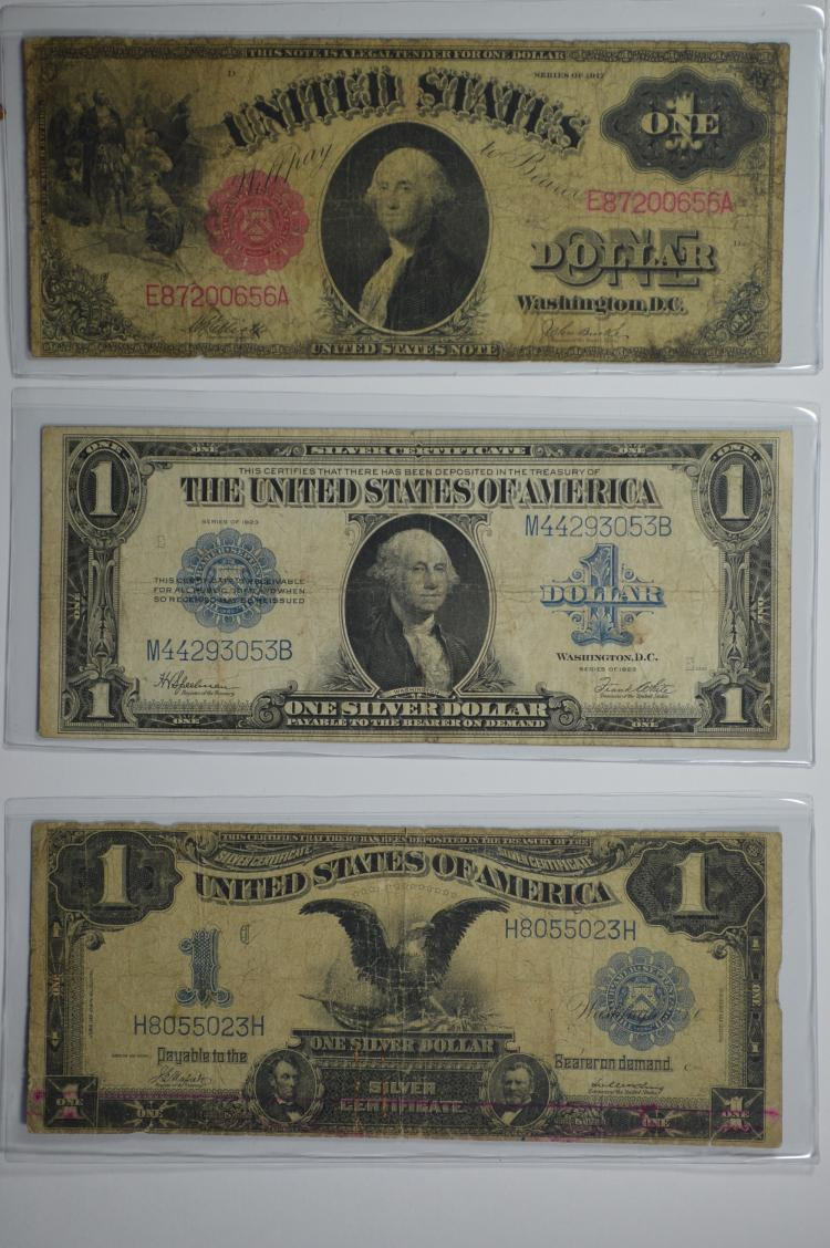A trio of Large Size $1.00 Type Notes