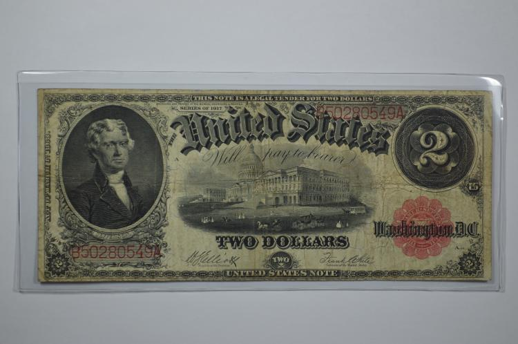 $2.00 Series of 1917 Legal Tender Note, Fr-59.