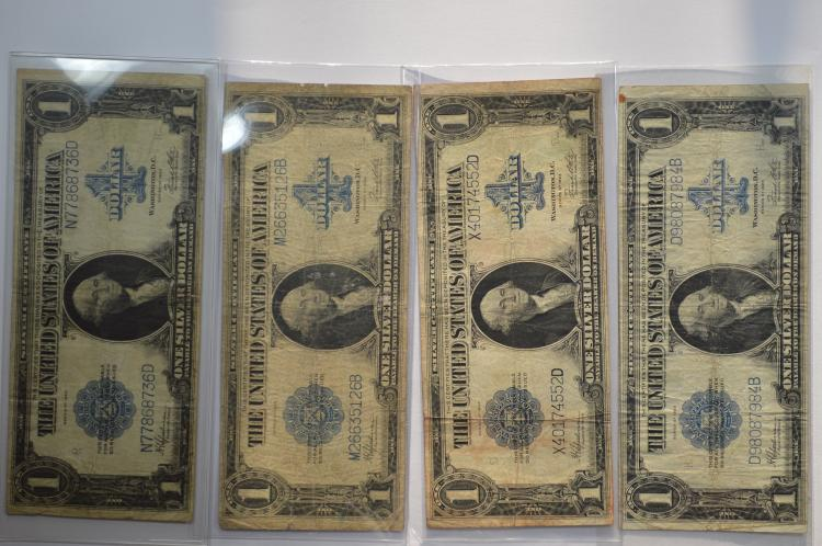 An octet of $1.00 Series of 1923 Silver Certificates
