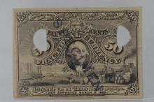 Fractional Currency. 50c Second Issue Experimental