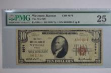 $10.00 Series of 1929 Type I National Bank Note, Fr-1801-1, Charter #8974