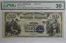 $20.00 Series of 1882 Date Back National Bank Note, Fr-556, Charter #5171