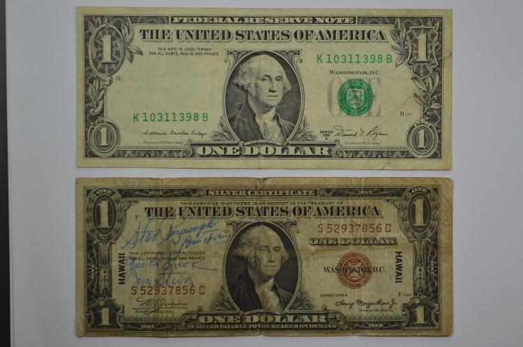 U.S. Currency Error. $1.00 Series of 1981-A Federal Reserve Note