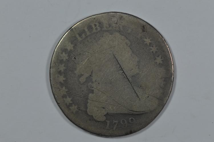 counterstamped Draped Bust Dollar