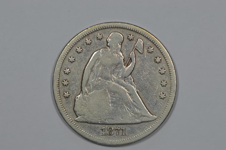 $1.00 Silver 1871 Very Good