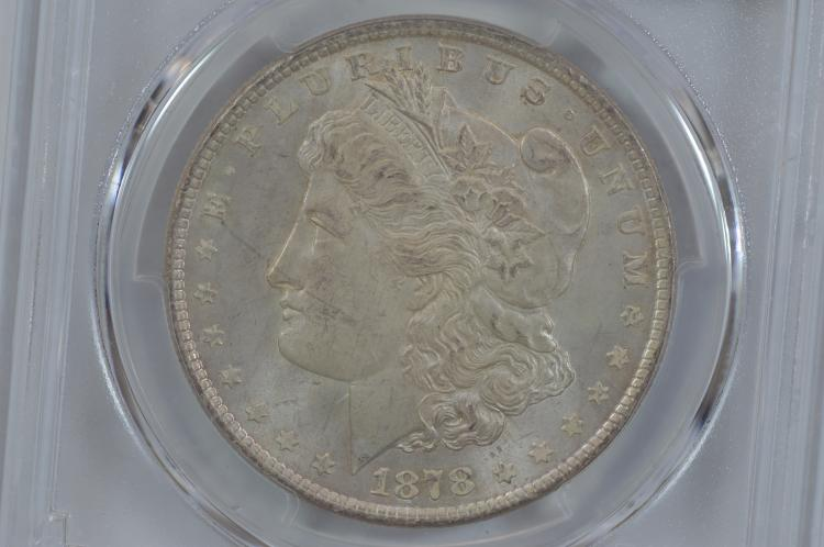 $1.00 Silver 1878 8TF PCGS MS65.