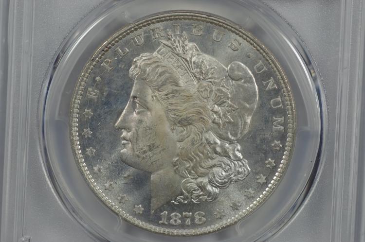 $1.00 Silver 1878 8TF PCGS MS63