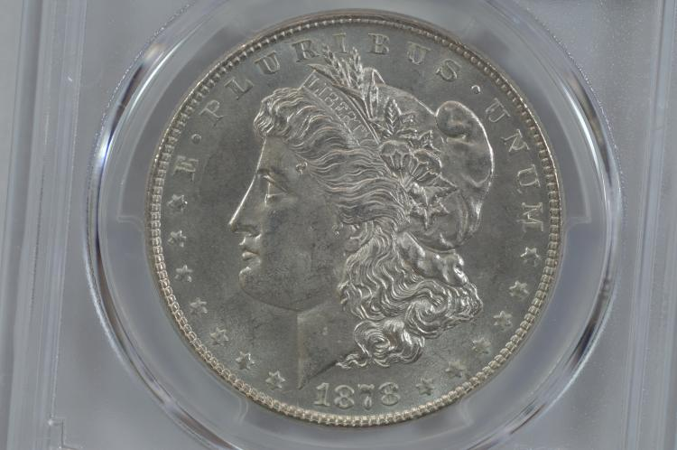 $1.00 Silver 1878 7/8 TF Strong.