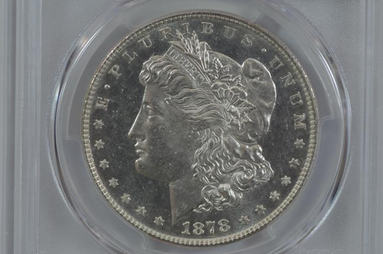 $1.00 Silver 1878 7 TF, Rev. of '78. PCGS MS64PL.