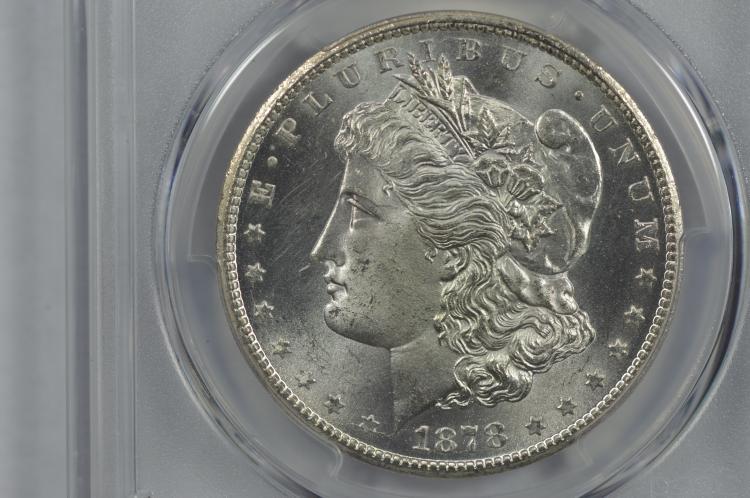 $1.00 Silver 1878-CC PCGS MS65