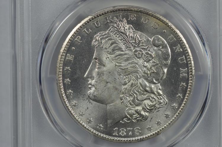 $1.00 Silver 1878-CC PCGS MS64+