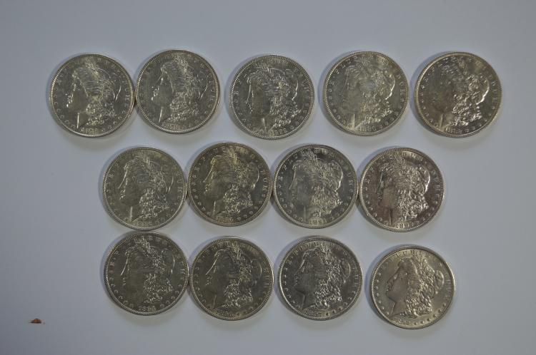 A higher circulated grade starter collection of Morgan Dollars