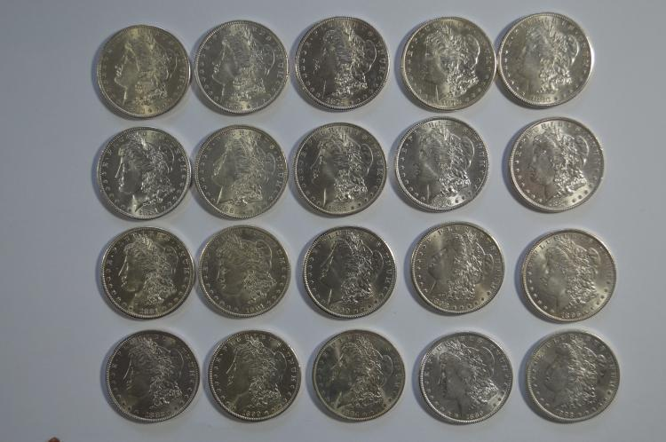 A noteworthy partial set of Uncirculated Morgan Dollars