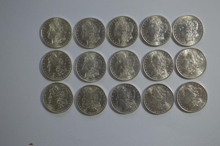 Uncirculated partial set of Morgan D ollars