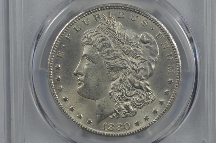$1.00 Silver 1880-CC Rev. of '79. PCGS MS63