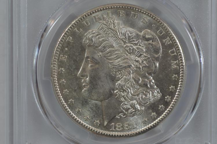 $1.00 Silver 1881-S PCGS MS65