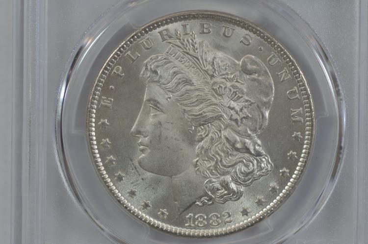 $1.00 Silver 1882 PCGS MS65