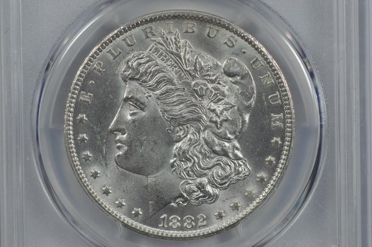 $1.00 Silver 1882-CC PCGS MS62