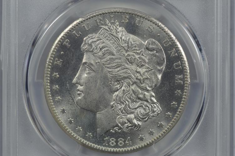$1.00 Silver 1884-CC PCGS MS64