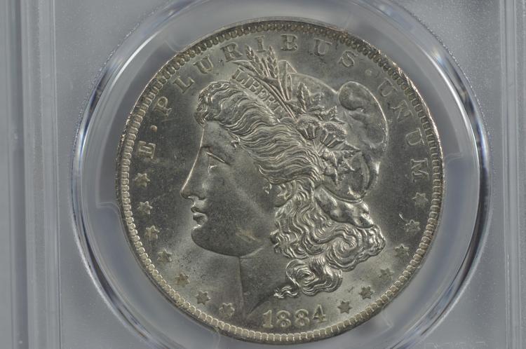 $1.00 Silver 1884-O PCGS MS65