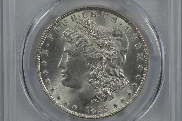 $1.00 Silver 1885 PCGS MS65