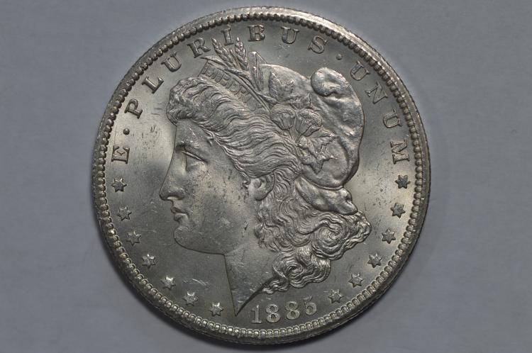 $1.00 Silver 1885-CC Choice BU