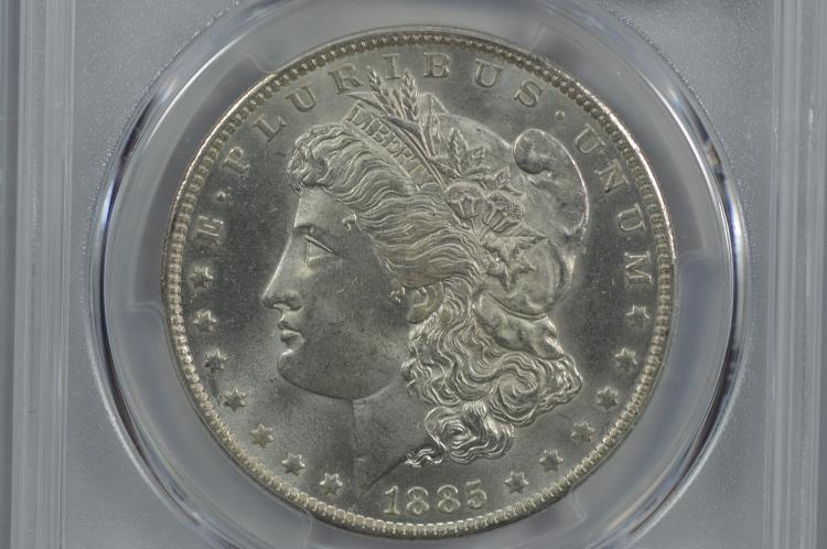 $1.00 Silver 1885-O PCGS MS65